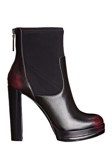 Nine West %100 Deri Bot Bordo